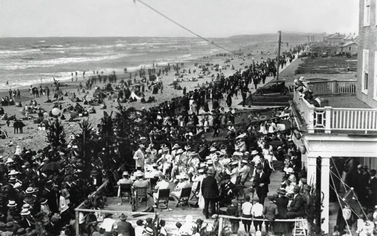 The Seaside Prom was dedicated in August of 1921. Hundreds of statewide officials joined visitors to celebrate the milestone.